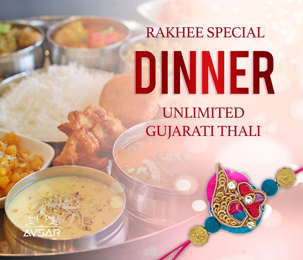Raksha Bandhan Special Dinner Thali at Avsar