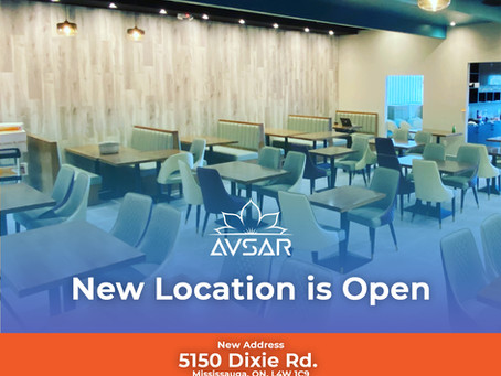 Avsar New Location is Open Now