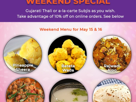 Weekend Special Menu - May 15 & 16