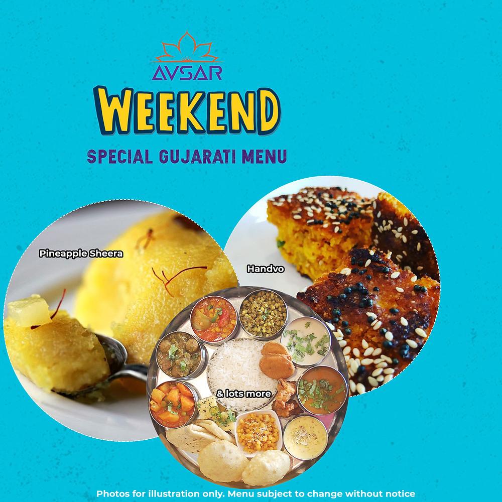 Pineapple Sheera, Handvo, Gujarati Thali