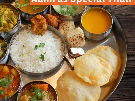 Aamras Royal Thali Menu July 20, 21