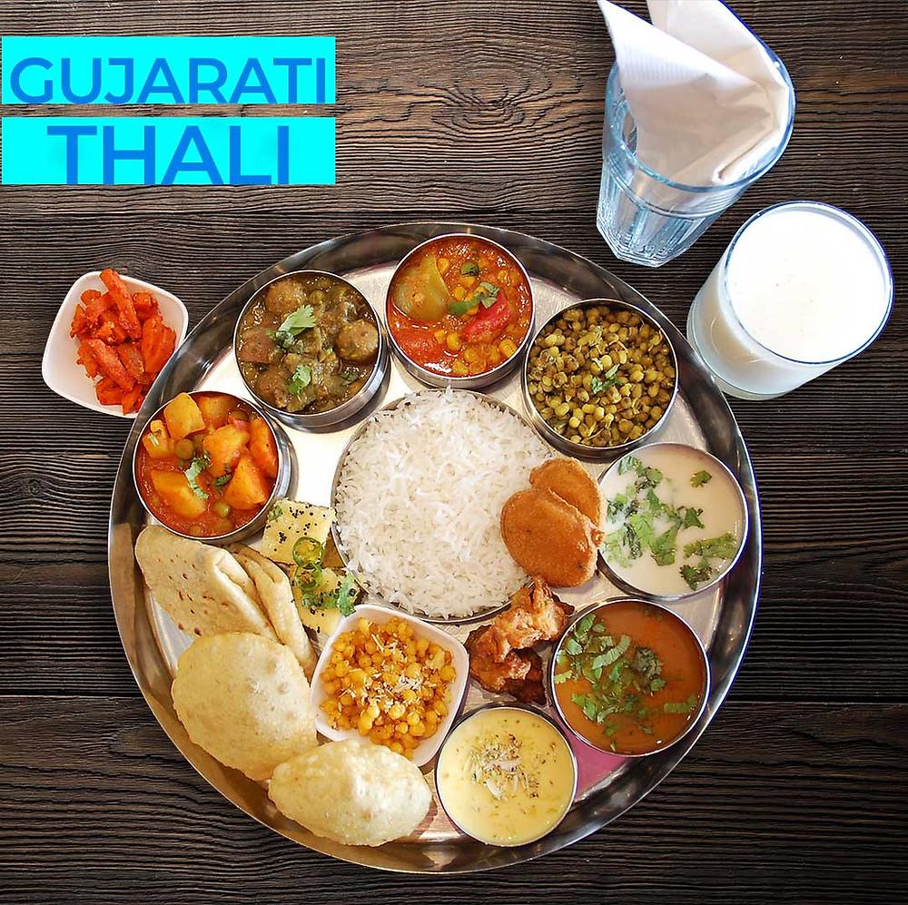 Royal Gujarati Thali at Avsar in Mississauga