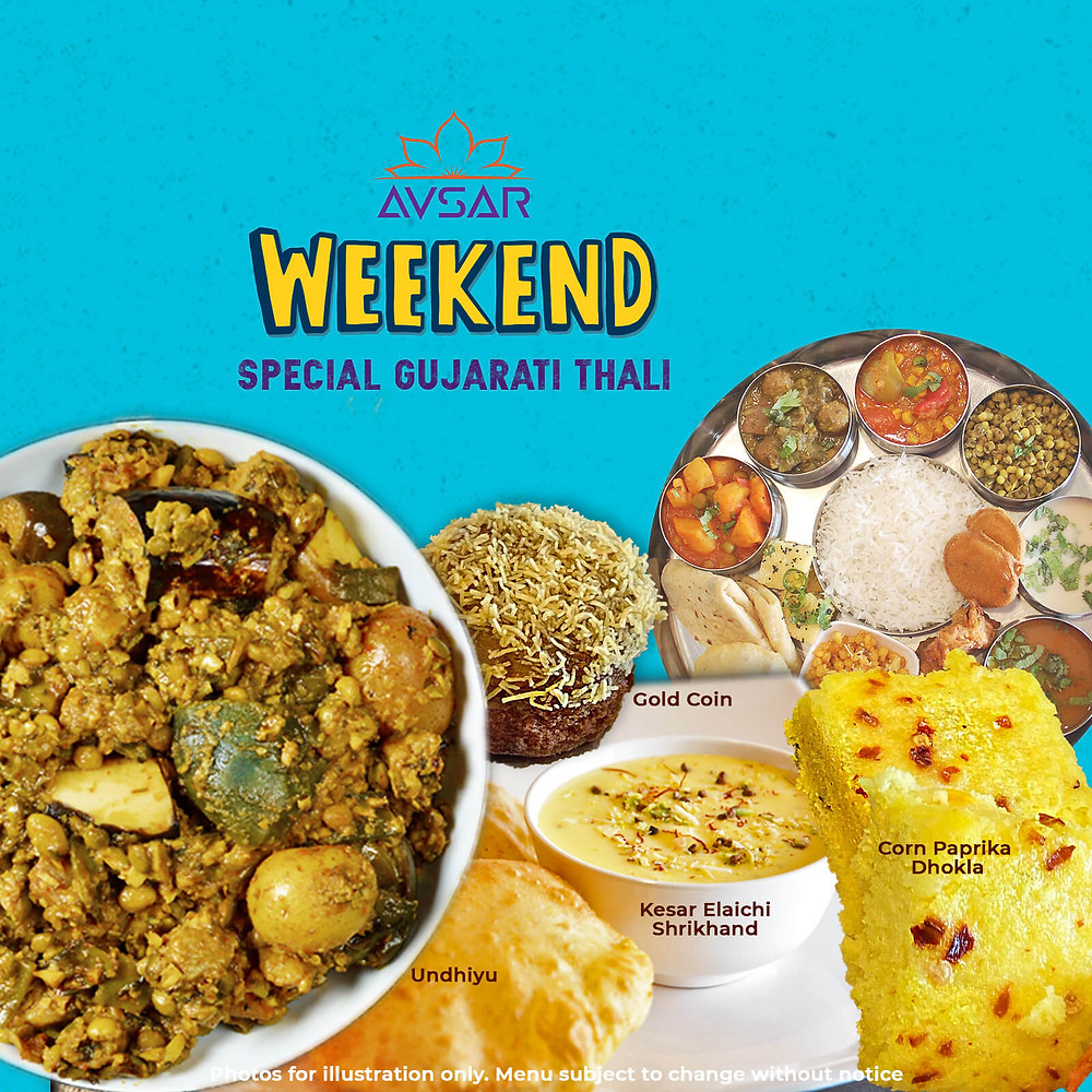 Weekend Special Gujarati Thali at Avsar in Mississauga