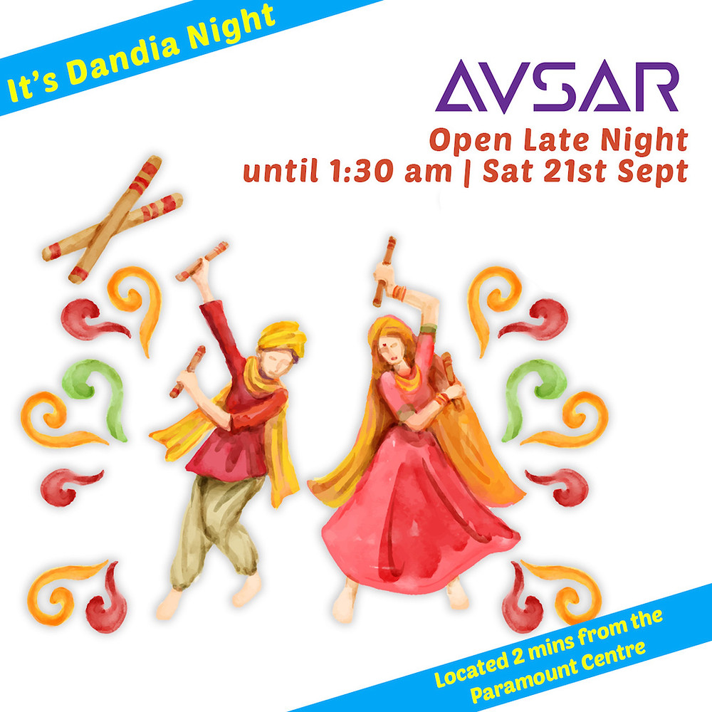 Avsar is Open Late Night until 1:30 am Sat Sept 21