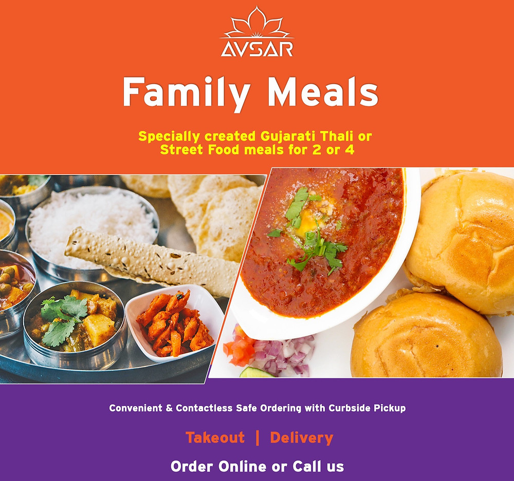 Avsar Mississauga Family Meal Takeout Packages