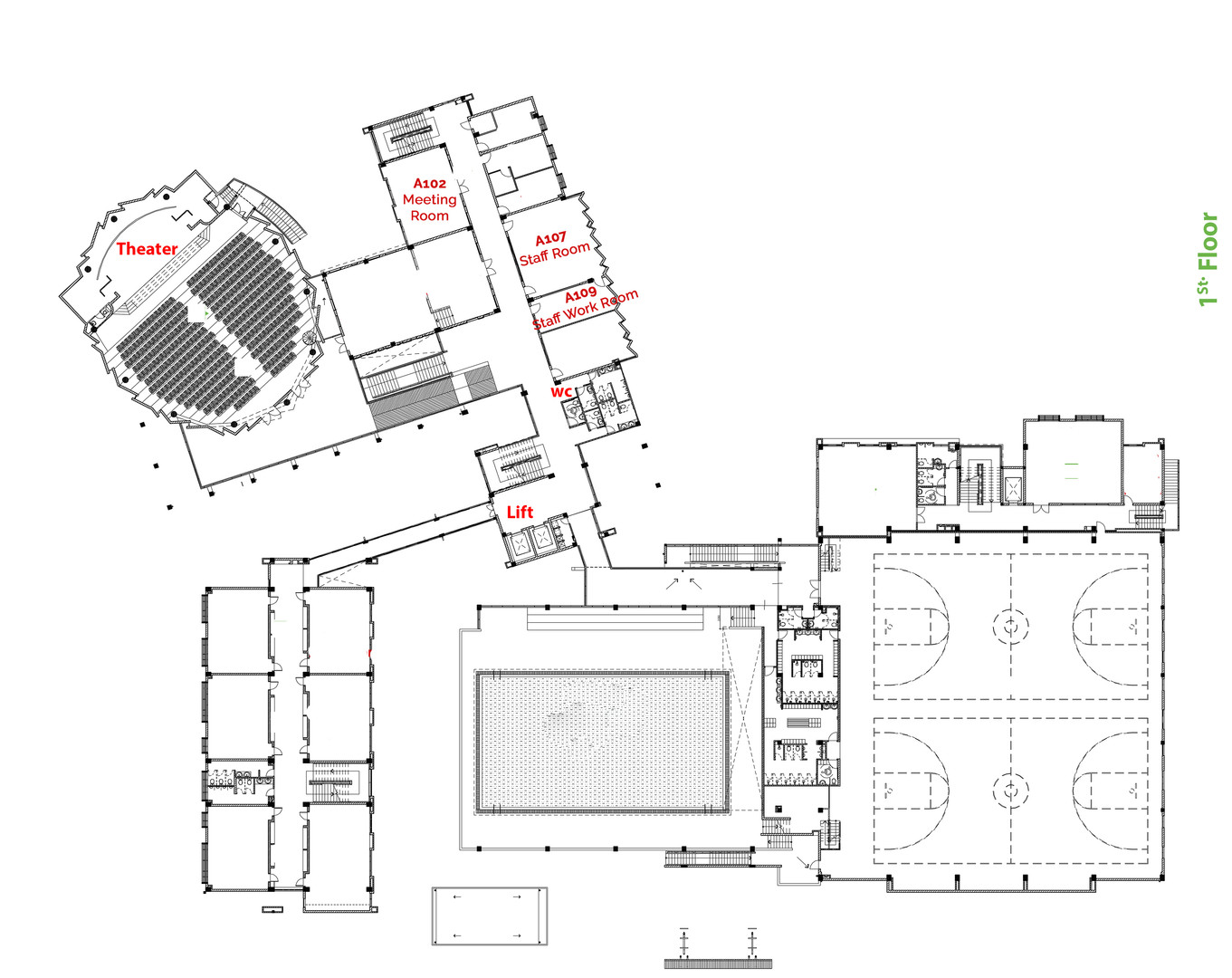 1st Floor Room No Final (Layered plans).