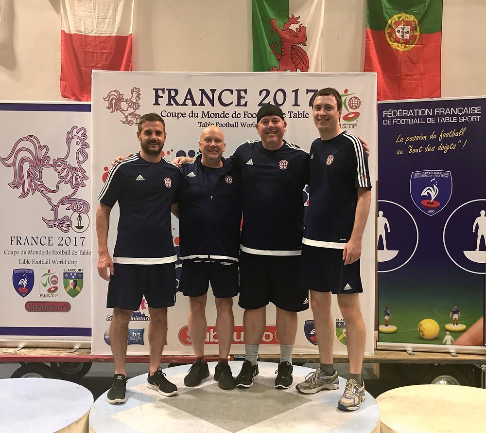 USA Team members: Christian Filippella, Paul O'DR, Lenny Foster, and Daniel Cranston.