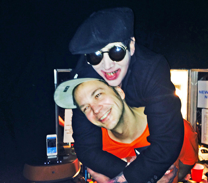 Marilyn Manson backstage with Michael Alig