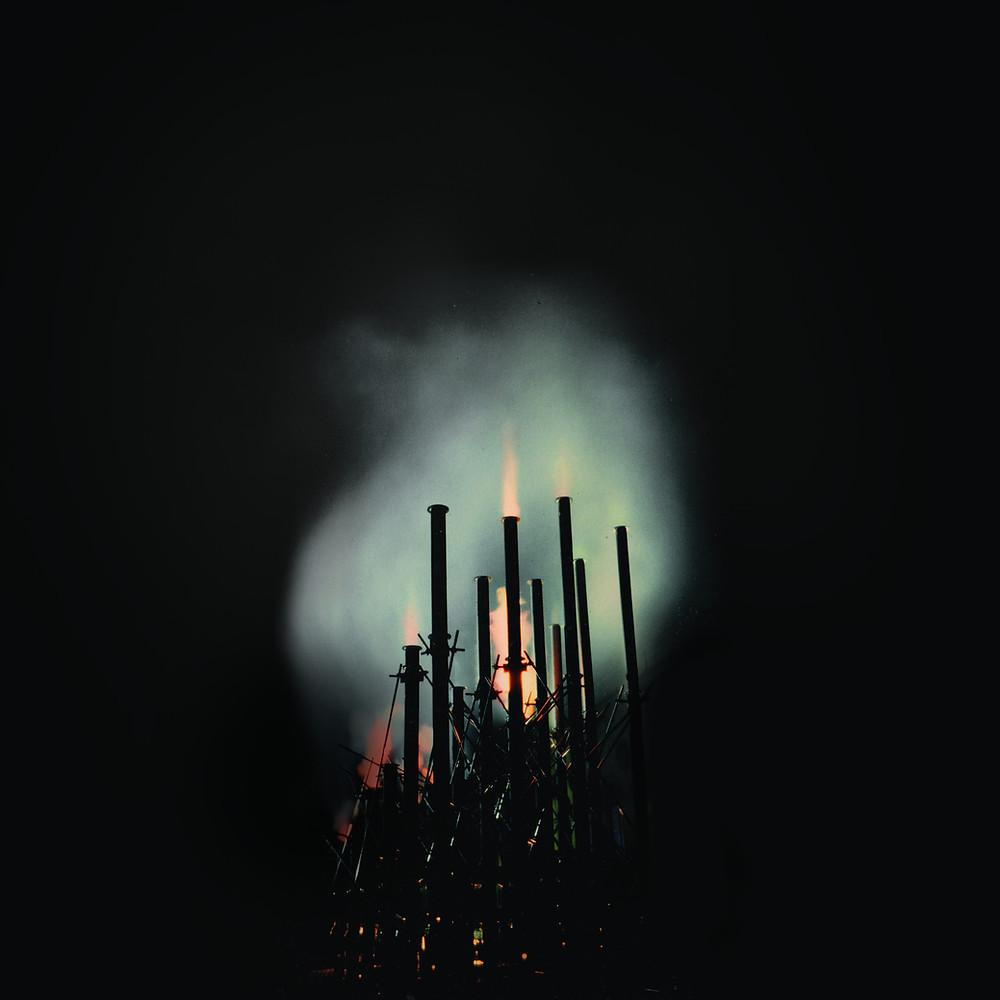 Bastiaan Maris' Fire Organ, Image credit: Marek Schovaneck, Image courtesy of the artist and Dark Mofo 2015