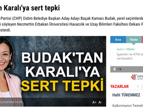 BUDAK'TAN KARALIYA SERT TEPKİ