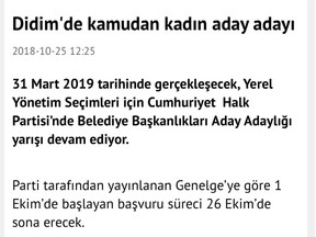 DİDİM'DE KAMUDAN KADIN ADAY ADAYI
