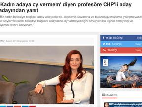 'Kadın adaya oy vermem' diyen profesöre CHP'li aday adayından yanıt