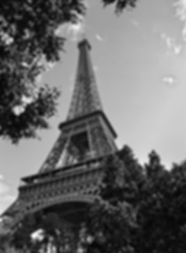 eiffel tower paris france black and white photo