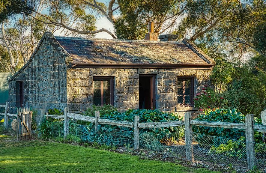 Old stone cottage Werribee Mansion Preci