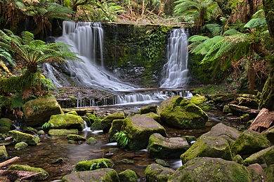 Mt Field National Park Tasmania Australia horeshoe water fall