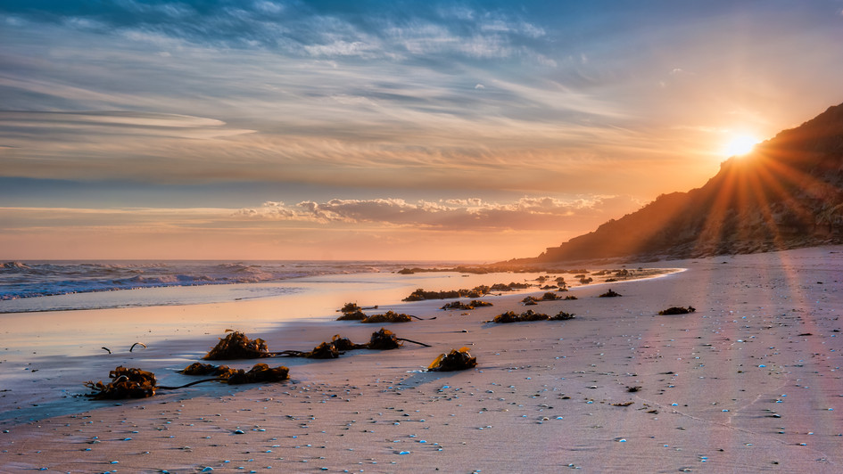 Sunst Red Bluff Victoria East Coast Aust