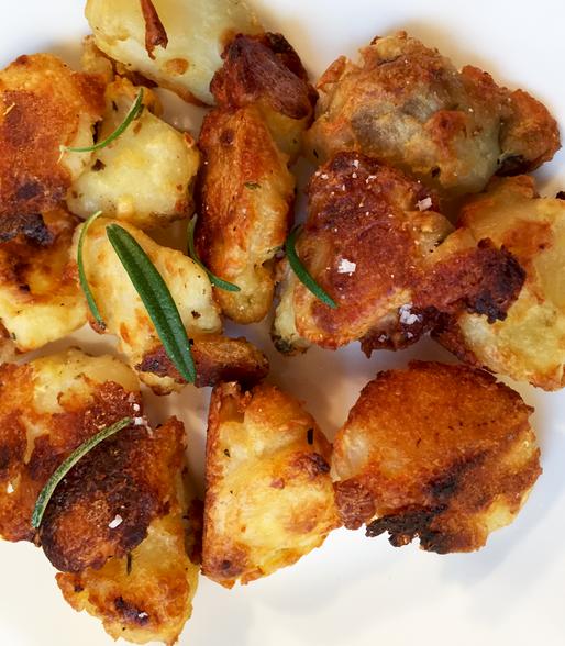 No-Fry Crispy Garlic Potatoes
