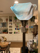 Blue Glass Standing Lamp