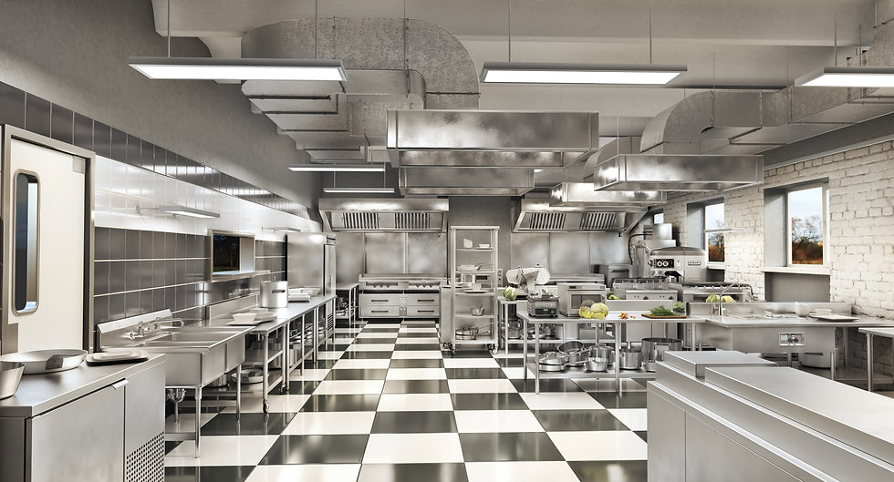 Detailed and Clean Commercial Kitchen