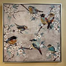 Framed Bird Painting