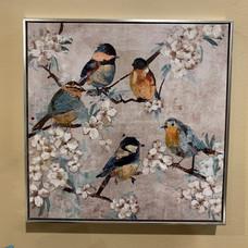 Framed Bird Painting 3