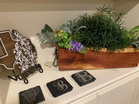 Coasters and Plant