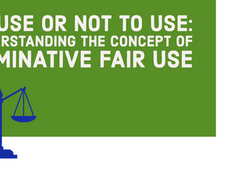 TO USE OR NOT TO USE: UNDERSTANDING THE CONCEPT OF NOMINATIVE FAIR USE