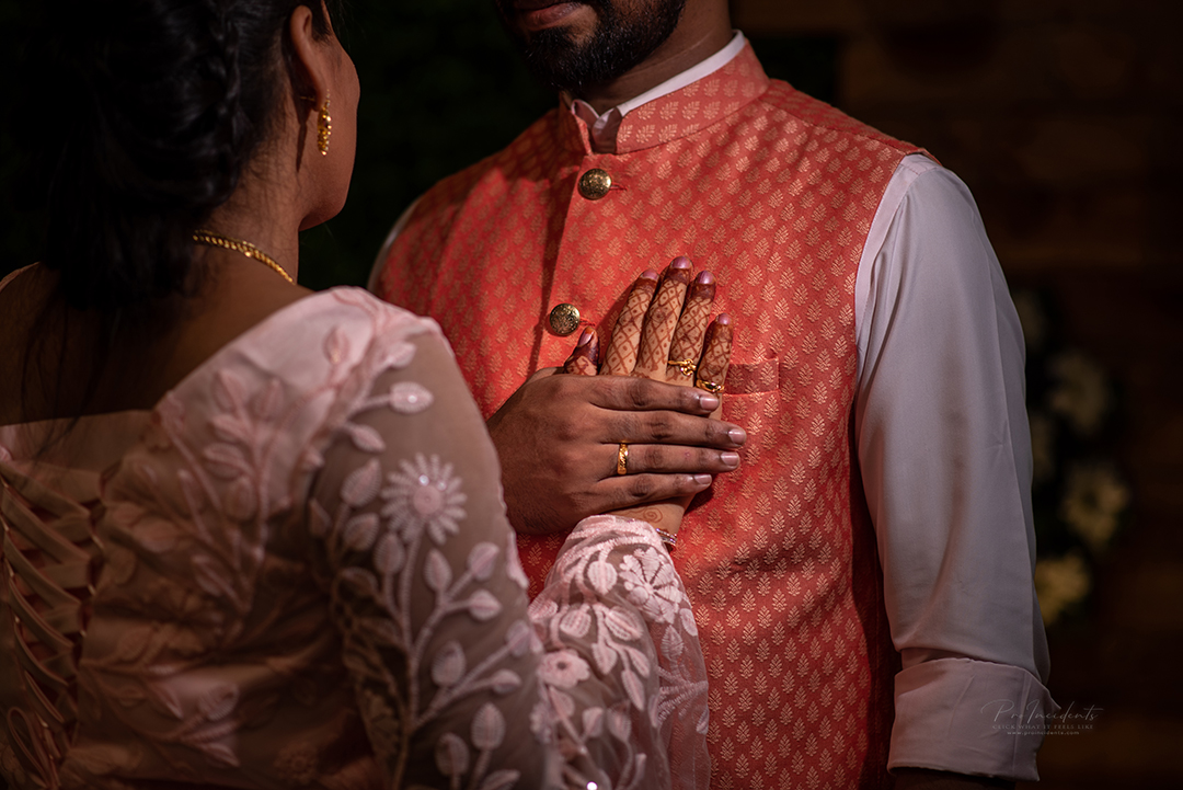 Tamil christian couple wedding reception photography