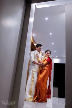 Kerala Hindu wedding couple