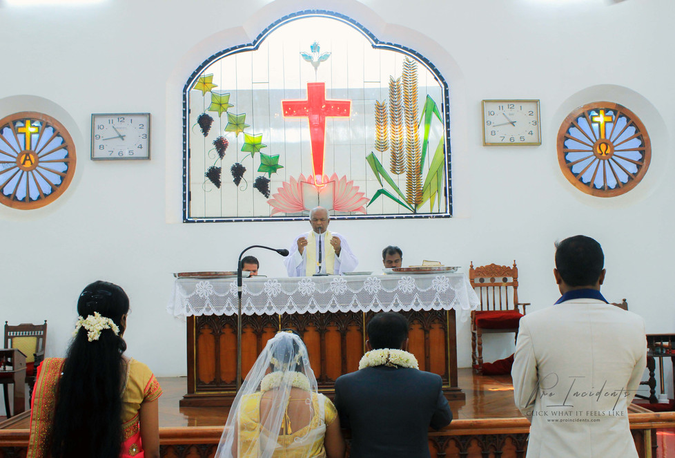 Wedding Candid photography at CSI Home church nagercoil