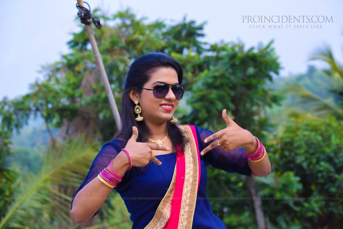 Nagercoil Christian Wedding Bride Outdoor Photoshoot