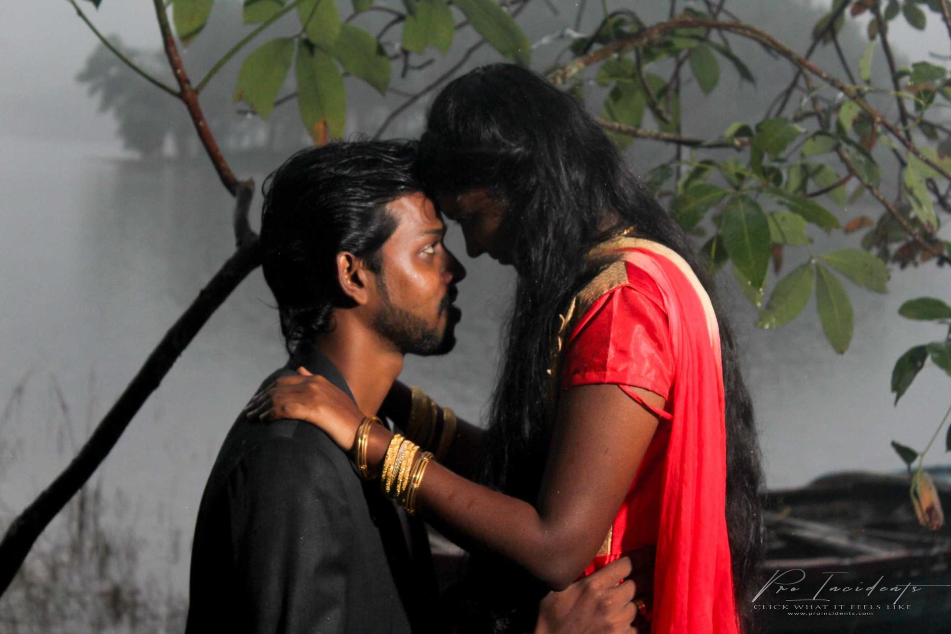 Couple outdoor film shoot marthandam