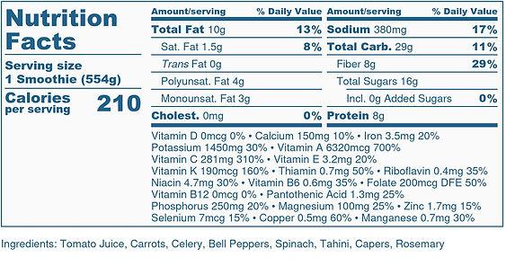 Feel Good Smoothie - Nutrition Label-2.j