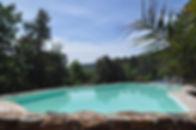la piscine panoramique du domaine Arbres & Cabanes