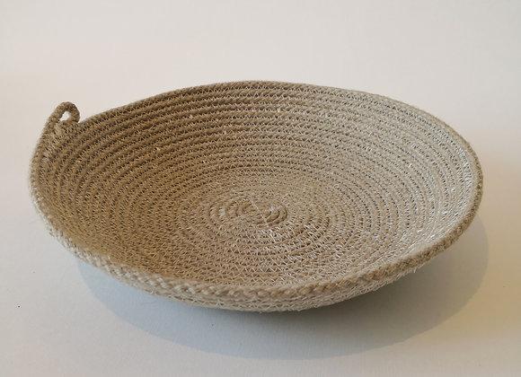 Paniers plats Lin (small, medium)