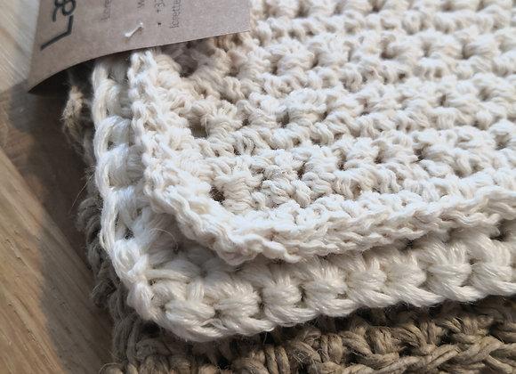 Trio de lavettes : Lin, coton et jute