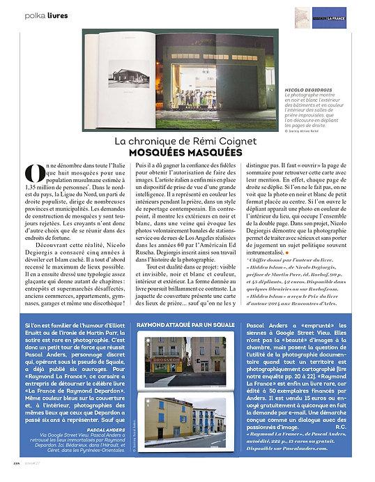 Polka magazine 27 Rémi Coignet Nicolo Degiorgis Raymond Depardon Pascal Anders Hidden Islam