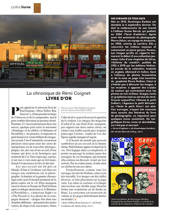 Polka Magazine 28 Rémi Coignet  Paul Graham Dominique Darbois