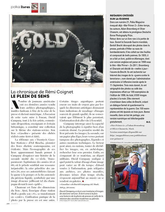 Polka magazine 24 David Campany Gazoline Boomberg Chanarin War Primer 2 Rémi Coignet