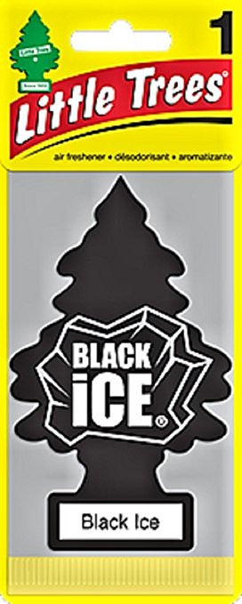 Stop and Smell the Little Tree Black Ice Car Air Freshener