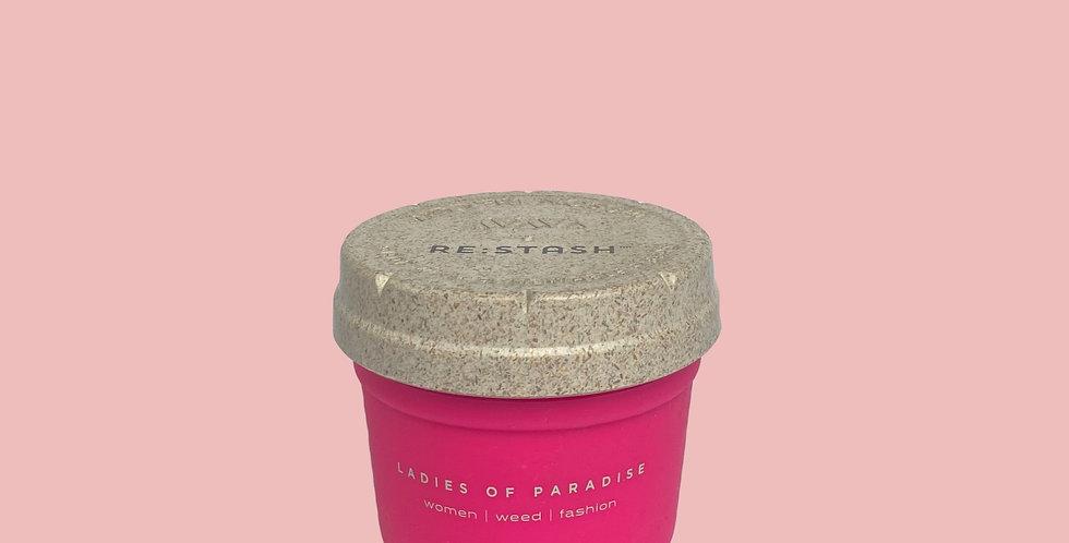 Small Pink Re-Stash Jar