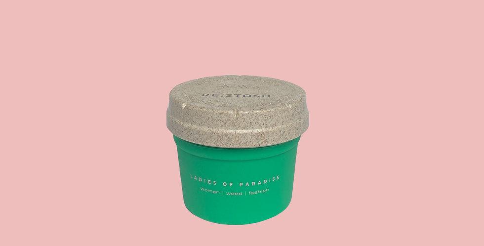 Small Green Re-Stash Jar