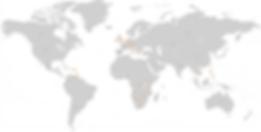 World Map - customers - International assurance Limited PCC, Mauritius