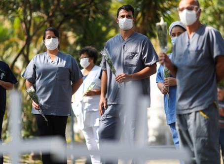 Mais de 70% das mortes por Covid-19 da América do Sul são registradas no Brasil