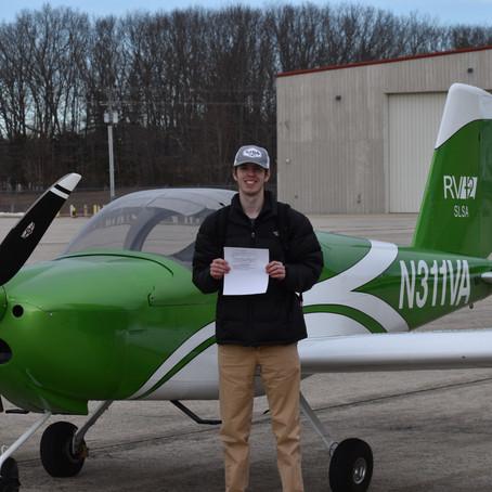 Checkride PASSED! New Private Pilot Adam F.