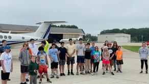 Sanborn High School Aviation Camp visits CHI Aerospace!