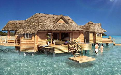 Sandals overwater villas