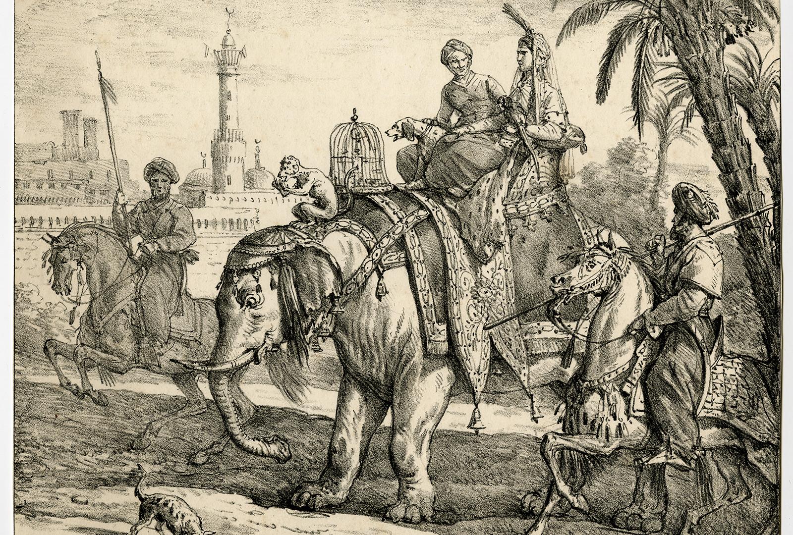 An oriental couple on an elephant.jpg