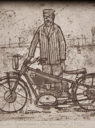 zelfportret onderweg 28 bij 21,5 cm.JPG