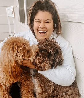 Katie and Pups.JPG
